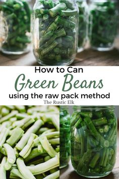 Learn how to can green beans, using the raw pack method, in a pressure canner to save freezer space. This easy canning recipe is a great beginner recipe for using a pressure canner. Canning Corn, Canning Apples, Easy Canning, Canning Jar Labels, Canning Peaches, Canning Vegetables, Home Canning Recipes, Cooking Recipes, Easy Vegetable Recipes