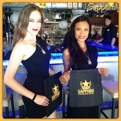 In the West Covina area?  Stop by Oto Oto Izakaya Restaurant and grab some Sapporo & some great swag from your Sapporo models Hannah & Charito.