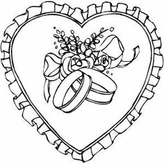 Valentine's Day coloring pages Wedding Coloring Pages, Valentines Day Coloring Page, Coloring Pages For Girls, Flower Coloring Pages, Coloring Pages To Print, Free Printable Coloring Pages, Free Coloring Pages, Heart Coloring Pages, Dream Catcher Drawing