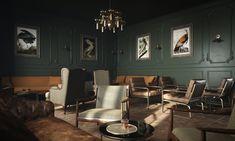 Speakeasy Lounge - Anthology Creative Studio Boudoir, Creative Studio, Conference Room, Dark Rooms, Lounge, Table, Inspirational, Spaces, Furniture