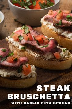 Grilling Recipes, Beef Recipes, Cooking Recipes, Appetizer Recipes, Appetizers, Appetizer Ideas, Sandwiches For Lunch, Strip Steak, Recipes