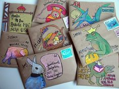 fun mail / fun mail & fun mail for kids & fun mail ideas & fun mail ideas for kids & fun mailbox ideas & fun mail for kids care packages & fun mail envelopes & fun mail ideas creative Pen Pal Letters, Letter Art, Letter Writing, Mail Art Envelopes, Addressing Envelopes, Kraft Envelopes, Envelope Art, Envelope Design, Pocket Letter