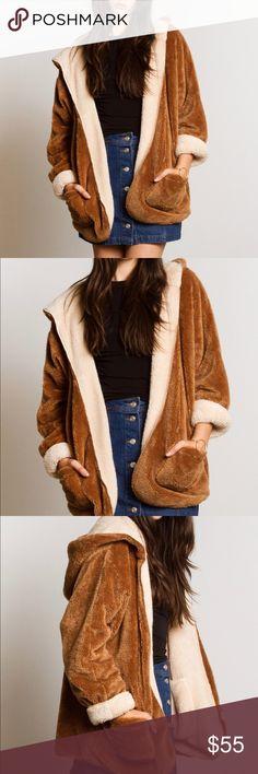 🎉FLASH SALE!🎉 Fuzzy Teddy Bear Jacket REVERSIBLE! Super duper soft and cozy. ❤️ Gypsy Los Angeles Jackets & Coats