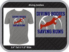 Diving Bodies Saving Runs baseball or softball SVG Cutter Baseball Mom, Baseball Players, Softball, Silhouette Machine, Silhouette Studio, School Spirit Shirts, Applique Designs, Diving, Bodies