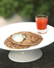 Buttermilk Pear Pancakes with Blood Orange Syrup