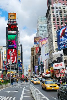 Times Square in New York City!  Have you been to the 10 most iconic spots in NYC?