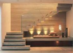 ml – staircase Stair Railing Design, Home Stairs Design, Interior Stairs, Modern House Design, Home Interior Design, Contemporary Stairs, Modern Stairs, Staircase Lighting Ideas, Building Stairs