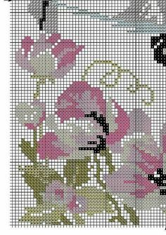 horse head with flowers Cross Stitch Horse, Cross Stitch Charts, Wedding Cross Stitch Patterns, Antique Glass Bottles, C2c, Horse Head, Filet Crochet, Le Point, Embroidery Stitches