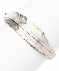 Love this Silver Feather Bracelet by I ADORN U on #zulily! #zulilyfinds  *Now $22.99