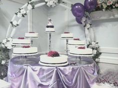 Purple Quinceanera cake