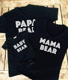 Mama Bear Shirt, Papa Bear Shirt, Baby Bear Onesie Family T - Shirts, Made by Thinkelite1
