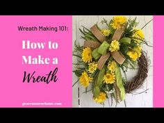 Learn How to make a wreath for your front door with this easy tutorial. You will have a beautiful wreath to display in no time!