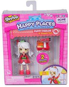 Shopkins Happy Places Puppy Parlor Doll with Petkins - Sara Sushi Shopkins Game, Shopkins Season 2, Shopkins Gifts, Shoppies Dolls, Shopkins And Shoppies, Polly Pocket, Shopkins Happy Places, Moose Toys, Baby Doll Accessories