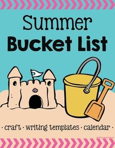 Celebrate summer and the end of the year with the Summer Bucket List craft, writing templates, and calendar! Students will have so much fun thinking of the activities they want to do this summer!