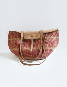 Vintage 70's Woven Jute Bag — Everything Golden