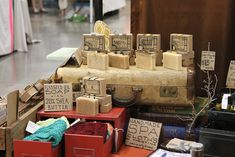 craft show soap display ideas | Renegade Craft Fair soap display by Old Factory Soap | Flickr - Photo ...