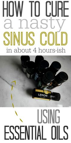 How to clear up your sinuses and breath freely after a nasty cold using essential oils! I can't believe how quickly this worked for me!