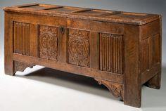 15th century panel box
