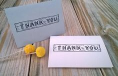Hand Drawn Wood Plank Thank You Cards by ChampaignPaper on Etsy, $10.00