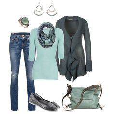 """""""Mint 'n Gray"""" by smores1165 on Polyvore"""
