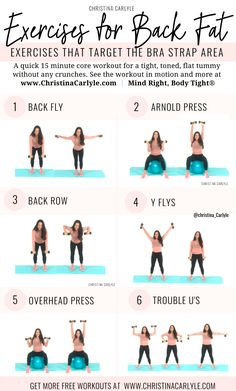Upper Body Workout to Tone Back & Arms in 15 minutes