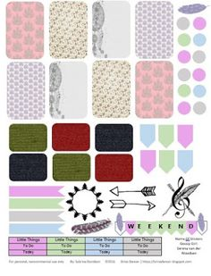 Free Printable Planner Stickers from Sabrina Davidson