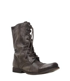 Military Boots by Allsaints So different from my style but I may invest