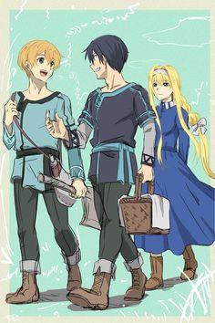Anime Couples Manga, Cute Anime Couples, Anime Manga, Eugeo Sword Art Online, K Project Anime, Sword Art Online Wallpaper, Anime Art Girl, Manga Girl, Anime Girls
