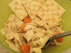 Crock pot chicken noodle soup for two! Simple & so yummy.