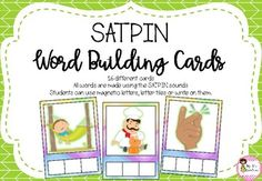 SATPIN Word Building Cards Magnetic Letters, Word Building, Phonics, Student, Lettering, Words, Frame, Picture Frame, Frames