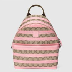 80b9fbce313 Children s GG pink striped backpack. Gucci Gifts