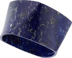 Frank Gehry for Tiffany & Co. Lapis Lazuli Bracelet From the Torque Collection, a carved lapis lazuli bangle.