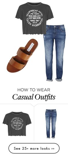 """""""Cool and casual"""" by kwade524 on Polyvore featuring Steve Madden and Topshop"""