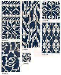 Bilderesultat for mochila muster Fair Isle Knitting Patterns, Knitting Charts, Weaving Patterns, Knitting Designs, Knitting Stitches, Knitting Projects, Crochet Cross, Crochet Chart, Crochet Patterns