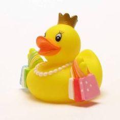 Badeente Shopping-Queen Plastikente Quietscheentchen Gummiente Quietscheente