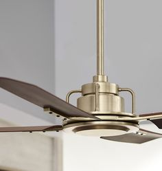 Industrial style ceiling fan - Industrial fans always using for many purposes. In businesses that are normally involved in industrial production. Industrial Fan, Industrial Ceiling Lights, Industrial Bedroom, Industrial Design, Industrial Office, Gold Ceiling Fan, Ceiling Fan In Kitchen, Living Room Ceiling Fan, Ceiling Fan No Light