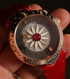 """Christophe Claret Marguerite Watch Hands-On - on aBlogtoWatch """"To love it or to love it not? Since the introduction of the two Christophe Claret ladies' timepieces that are named after the same French Queen... I have been holding off on writing an honest opinion piece about them. As a woman who has written about ladies' timepieces for a long time now, I was part of the late 1990s and early 2000s chorus of voices complaining that women's watches were simply smaller versions of men's…"""