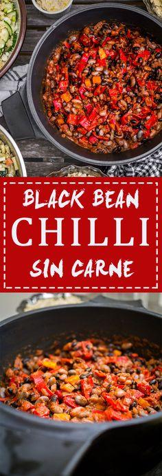 Black Bean Chili Sin Carne   www.discoverdelicious.org   Vegan food