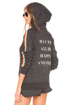 f6c66b82d4f3f Spiritual Gangster May We All Rainbow Pullover Hoodie in Vintage Black