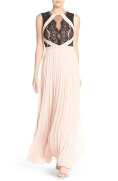 Xscape Lace & Pleated Chiffon Gown available at #Nordstrom