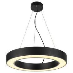 Pendelleuchte Medo Ring in schwarz, Ø 600 mm -Pendelleuchte -  Energieklasse:A+