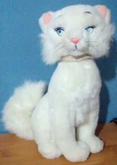 Rare Style Disney Aristocats Movie Large 13 Inch Plush Duchess Mother Cat 1990's