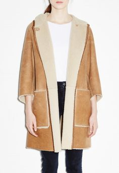 Bay Cape - Sheepskin coat - Toffee - MiH
