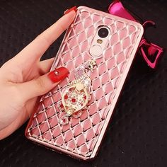 Xiaomi redmi note 4 case stand holder cover for xiaomi redmi note 4 Silicone soft case redmi note4 protective women gold cases
