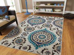 Luxury Blue Gray Rug Living Room Rugs Carpets 810 Blue Rug Set 57 Runner Rug 2