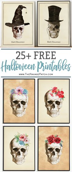 Free Halloween Printables Extravaganza Free Halloween Printables Extravaganza Look We Know Okay We Know What S Being Whispered Out There On The Digital Airwaves We Know W. Halloween Tags, Halloween Kunst, Halloween Art Projects, Whimsical Halloween, Chic Halloween, Halloween Prints, Creepy Halloween, Halloween Skull, Holidays Halloween
