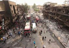 This is what an explosion by a bombcar looks like in iraq 300 people were killed and injured and burned  #pray_for_iraq
