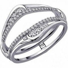 White Gold Solitaire Enhancer Ring Guard Wrap (0.35ct. tw)- RG331379484724