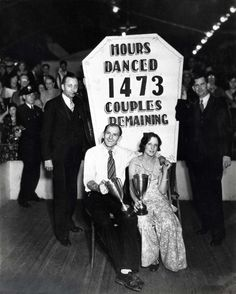 Winners of the New York dance marathon, after 1,473 hours of dancing, 1931