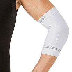 Zensah Compression Tennis Elbow Sleeve for Elbow Tendonitis, Tennis Elbow, Golfer's Elbow - Elbow Support, Elbow Brace, Large, White >>> You can find out more details at the link of the image.